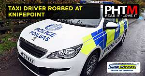 TAXI DRIVER ROBBED AT KNIFEPOINT