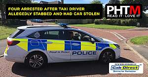 FOUR ARRESTED AFTER TAXI DRIVER ALLEGEDLY STABBED AND HAD HIS CAR STOLEN IN GATESHEAD