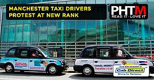 MANCHESTER TAXI DRIVERS PROTEST AT NEW RANK