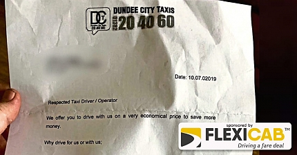 DUNDEE TAXI DRIVERS RAGE AFTER COUNCIL ALLEGEDLY HAND OUT THEIR PERSONAL DETAILS TO RIVAL COMPANY