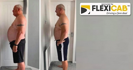 SCOTTISH TAXI DRIVER SHEDS FOUR STONE AND TRANSFORMS HIS BODY