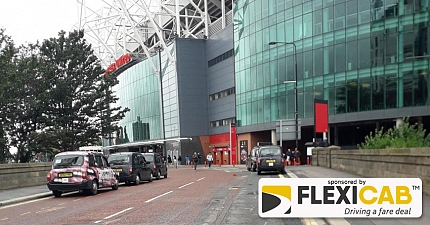 WOEFUL STATE OF AFFAIRS FOR TAXI DRIVERS OUTSIDE MANCHESTER UNITED STADIUM