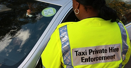 CABBIE FINED AFTER PLYING FOR TRADE IN READING