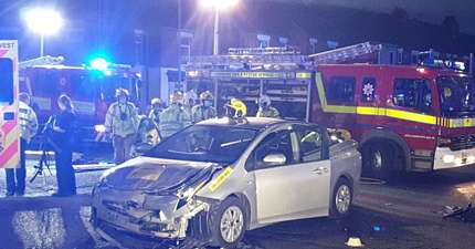 DRIVER CUT FROM PHV AFTER TWO VEHICLE COLLISION IN WARRINGTON
