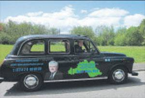 South Wales AM will greet constituents from his cab!