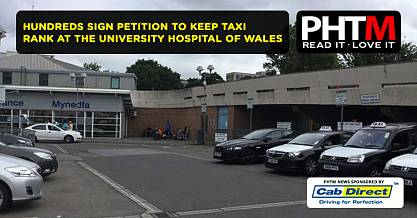 HUNDREDS SIGN PETITION TO KEEP TAXI RANK AT THE UNIVERSITY HOSPITAL OF WALES