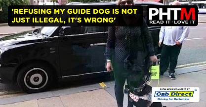 REFUSING MY GUIDE DOG IS NOT JUST ILLEGAL ITS WRONG