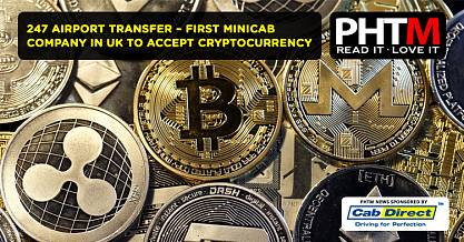 247 AIRPORT TRANSFER THE FIRST MINICAB COMPANY IN THE UK TO ACCEPT CRYPTOCURRENCY