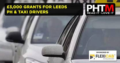 3000 GRANTS FOR LEEDS TAXI DRIVERS