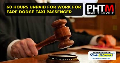 60 HOURS UNPAID FOR WORK FOR FARE DODGE TAXI PASSENGER