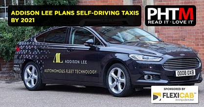 ADDISON LEE PLANS SELF DRIVING TAXIS BY 2021