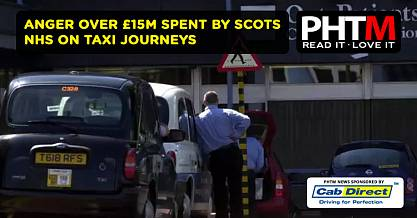 ANGER OVER 15M SPENT BY SCOTS NHS ON TAXI JOURNEYS