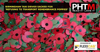 BIRMINGHAM TAXI DRIVER SACKED FOR REFUSING TO TRANSPORT REMEMBRANCE POPPIES