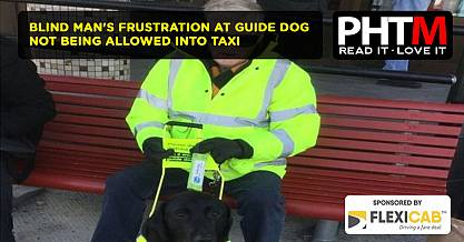 BLIND MANS FRUSTRATION AT GUIDE DOG NOT BEING ALLOWED INTO TAXI