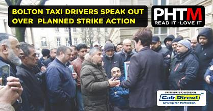 BOLTON TAXI DRIVERS SPEAK OUT OVER PLANNED STRIKE ACTION