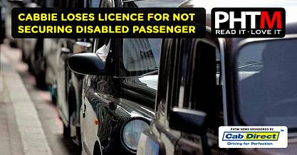 CABBIE LOSES LICENCE FOR NOT SECURING DISABLED PASSENGER