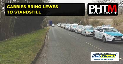 CABBIES BRING LEWES TO STANDSTILL
