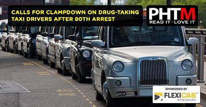 CALLS FOR CLAMPDOWN ON DRUG TAKING TAXI DRIVERS AFTER 80TH ARREST