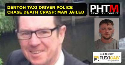 DENTON TAXI DRIVER POLICE CHASE DEATH CRASH MAN JAILED