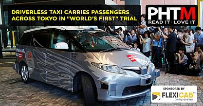 DRIVERLESS TAXI CARRIES PASSENGERS ACROSS TOKYO IN WORLDS FIRST TRIAL