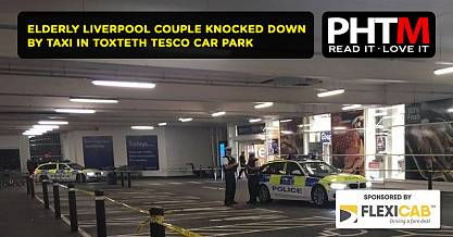 ELDERLY LIVERPOOL COUPLE KNOCKED DOWN BY TAXI IN TOXTETH TESCO CAR PARK