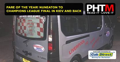 FARE OF THE YEAR NUNEATON TO CHAMPIONS LEAGUE FINAL IN KIEV AND BACK