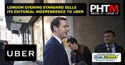 GEORGE OSBORNES LONDON EVENING STANDARD SELLS ITS EDITORIAL INDEPENDENCE TO UBER GOOGLE AND OTHERS F
