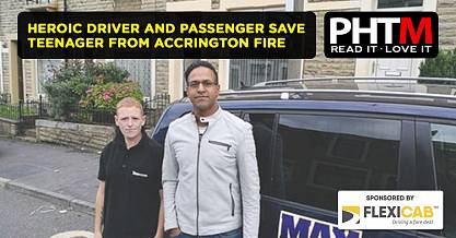 HEROIC DRIVER AND PASSENGER SAVE TEENAGER FROM ACCRINGTON FIRE