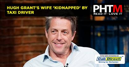 HUGH GRANTS WIFE KIDNAPPED BY TAXI DRIVER