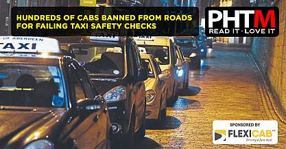 HUNDREDS OF CABS BANNED FROM ROADS FOR FAILING TAXI SAFETY CHECKS