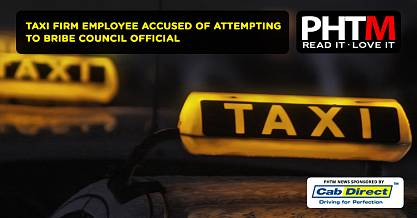 TAXI FIRM EMPLOYEE ACCUSED OF ATTEMPTING TO BRIBE COUNCIL OFFICIAL