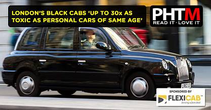 LONDONS BLACK CABS UP TO THIRTY TIMES AS TOXIC AS PERSONAL CARS OF SAME AGE RESEARCH REVEALS