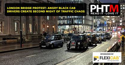 LONDON BRIDGE PROTEST ANGRY BLACK CAB DRIVERS CREATE SECOND NIGHT OF TRAFFIC CHAOS