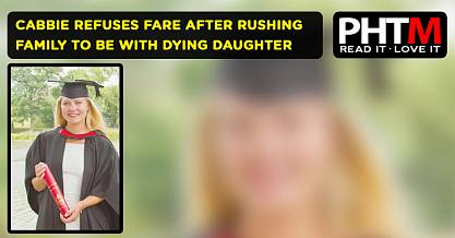 LONDON CABBIE REFUSES FARE AFTER RUSHING FAMILY TO BE WITH DYING DAUGHTER