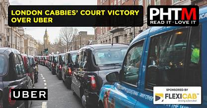 LONDON CABBIES COURT VICTORY OVER UBER
