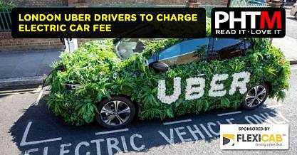 LONDON UBER DRIVERS TO CHARGE ELECTRIC CAR FEE