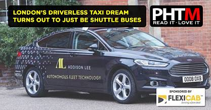 LONDONS DRIVERLESS TAXI DREAM TURNS OUT TO JUST BE SHUTTLE BUSES