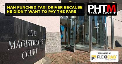 MAN PUNCHED TAXI DRIVER BECAUSE HE DIDNT WANT TO PAY THE FARE