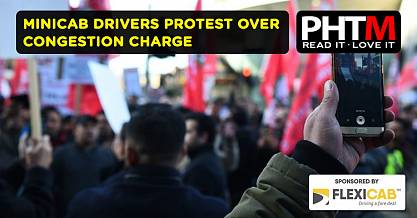 MINICAB DRIVERS PROTEST OVER CONGESTION CHARGE
