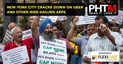 NEW YORK CITY CRACKS DOWN ON UBER AND OTHER RIDE HAILING APPS
