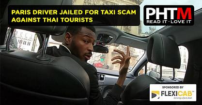 PARIS DRIVER JAILED FOR TAXI SCAM AGAINST THAI TOURISTS