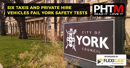 SIX TAXIS AND PRIVATE HIRE VEHICLES FAIL YORK SAFETY TESTS