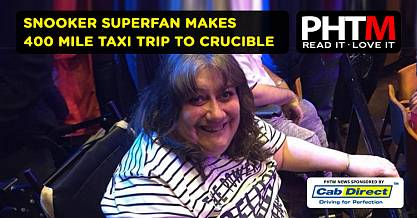 SNOOKER SUPERFAN MAKES 400 MILE TAXI TRIP TO CRUCIBLE