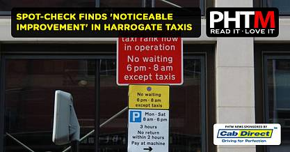 SPOT CHECK FINDS NOTICEABLE IMPROVEMENT IN HARROGATE TAXIS