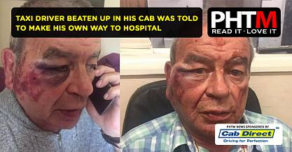 TAXI DRIVER BEATEN UP IN HIS CAB WAS TOLD TO MAKE HIS OWN WAY TO HOSPITAL