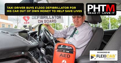 TAXI DRIVER BUYS 1000 DEFIBRILLATOR FOR HIS CAR OUT OF OWN MONEY TO HELP SAVE LIVES