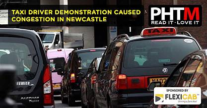 TAXI DRIVER DEMONSTRATION CAUSED CONGESTION IN NEWCASTLE