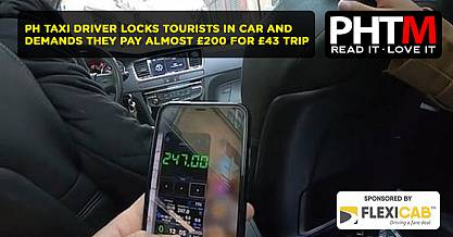 TAXI DRIVER LOCKS TOURISTS IN CAR AND DEMANDS THEY PAY ALMOST £200 FOR £43 TRIP