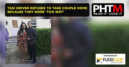 TAXI DRIVER REFUSES TO TAKE COUPLE HOME BECAUSE THEY WERE TOO WET