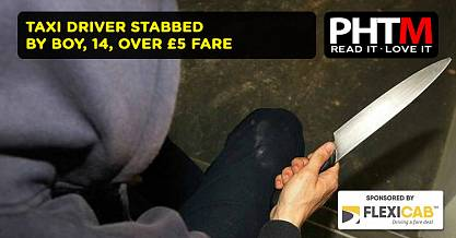 TAXI DRIVER STABBED BY BOY 14 OVER 5 FARE